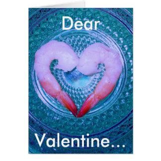 Camarão seu cartão do amor