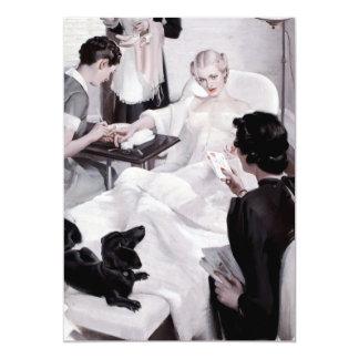 Câmaras de Charles Edward: Manicure Convite 12.7 X 17.78cm