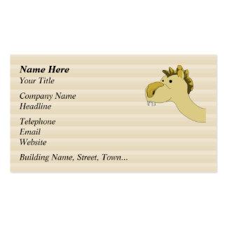 Camelo bonito dos desenhos animados cartoes de visita