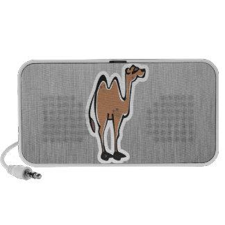 Camelo bonito Metal-olhar Caixinhas De Som Para Notebook