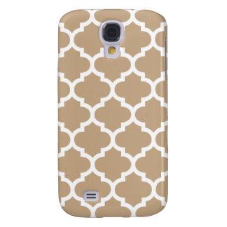Camelo Brown de Quatrefoil Capas Samsung Galaxy S4