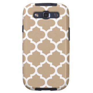 Camelo Brown de Quatrefoil Capinha Samsung Galaxy S3