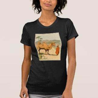 Camelo da Dobro-Corcunda no deserto do Mongolian Tshirt