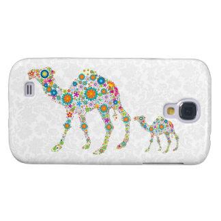 Camelo floral colorido galaxy s4 cover