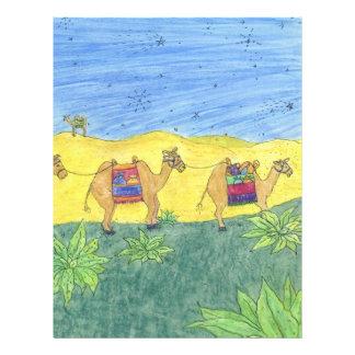 Camelos coloridos papel de carta personalizados