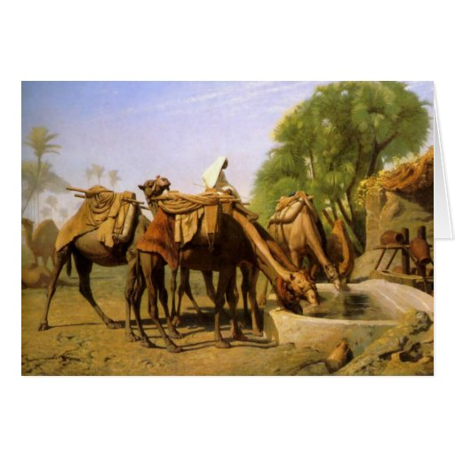 """Camelos na calha"", por Jean Leon Gerome Cartao"