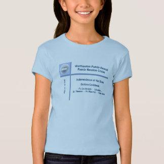 Cameo do navio do forro camiseta