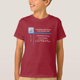 Cameo do navio do forro t-shirt