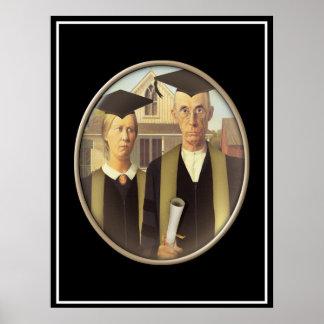 Cameo graduado gótico americano poster