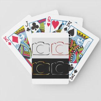 Câmera abstrata da fotografia cartas de baralhos