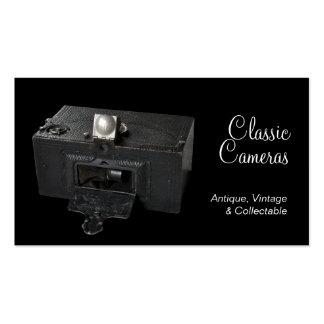 Câmera de caixa panorâmico do vintage cartão de visita