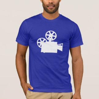 Câmera de filme azul camiseta