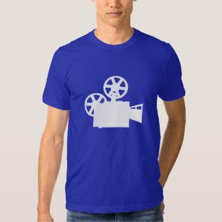 Câmera de filme azul tshirts