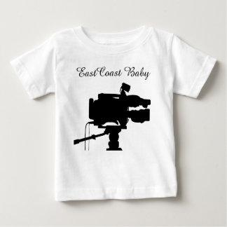Câmera de filme do cinema do filme do bebê da camiseta para bebê