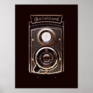 Câmera do art deco de Rolleicord Poster