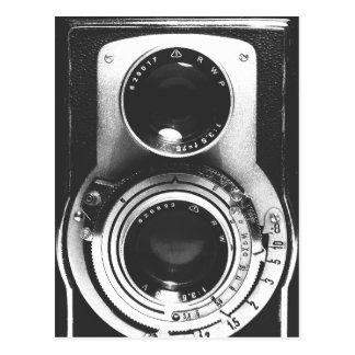 Câmera do b&w do vintage cartão postal
