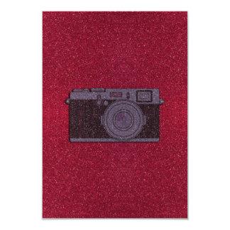 Câmera do brilho convites personalizados