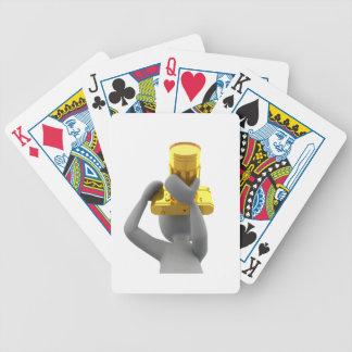 câmera do ouro do fotógrafo baralhos para poker