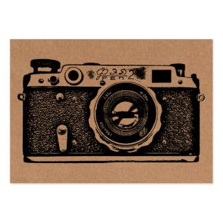 Câmera do russo - preto no cartão Tex Cartoes De Visita
