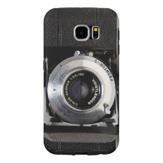 CÂMERA DO VINTAGE 5)Câmera de dobradura de 2 Capa Para Samsung Galaxy S6