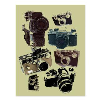 Câmera do vintage da fotografia do fotógrafo do cartão postal