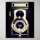 Câmera do vintage impressão