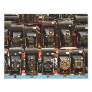 Câmera do vintage impressão de foto