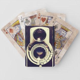 Câmera do vintage jogo de baralho