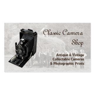 Câmera e fotografia do vintage cartão de visita