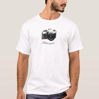 câmera, menina da foto camiseta