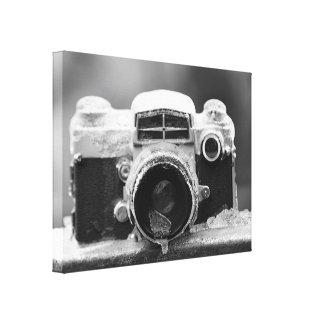 Câmera preta & branca do vintage da tempestade de