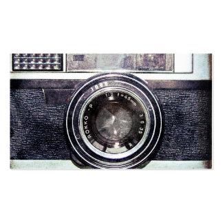 Câmera preta velha cartão de visita