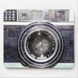 Câmera preta velha mousepad