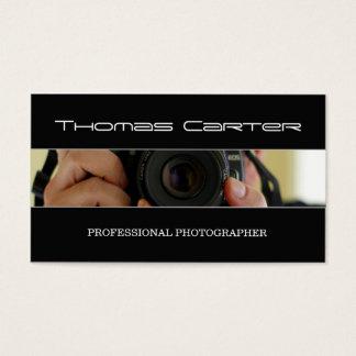 Câmera profissional do tiro do fotógrafo/foto cartão de visitas