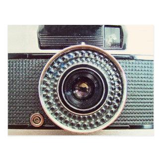 Câmera retro cartão postal