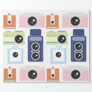câmeras papel de presente