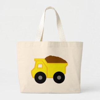 Camião basculante amarelo bolsa para compras