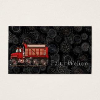 Camião basculante bonito do cascalho cartão de visitas