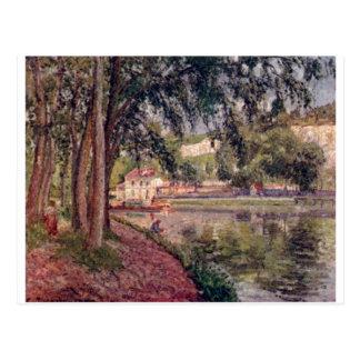 Camille Pissarro - lago 1902 tree do trajeto do re Cartões Postais