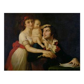 Camilo Desmoulins sua esposa Lucile e seu Cartão Postal