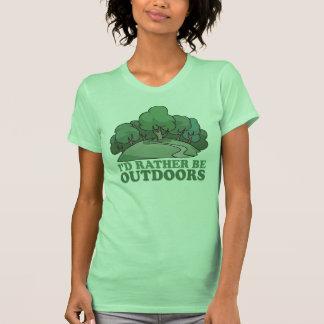 Caminhada, acampando, Trekking, escalando fora! Camisetas