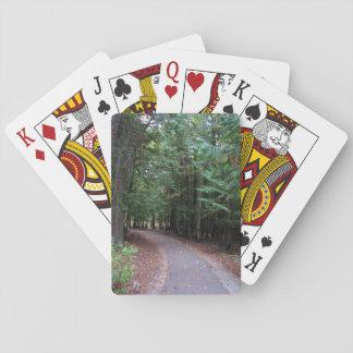 Caminhada através dos cartões de jogo das árvores jogo de carta