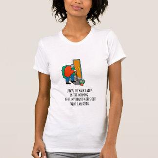 Caminhada cedo tshirts