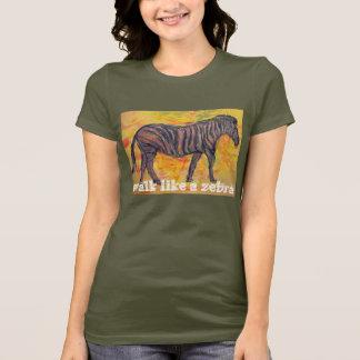 caminhada como uma zebra camiseta