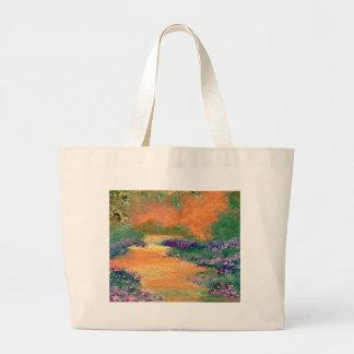 Caminhada da serenidade - produtos da arte de Cric Sacola Tote Jumbo