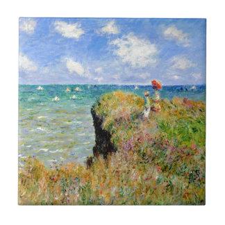 Caminhada de Clifftop em Pourville - Claude Monet