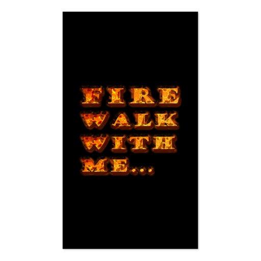Caminhada de fogo comigo cartão de visita