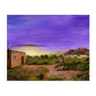 Caminhada do deserto cartão postal