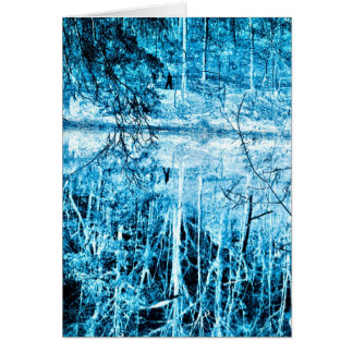 Caminhada do inverno no cartão da fotografia