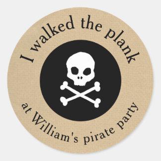 Caminhada do partido do pirata a etiqueta da